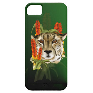 iPhone 5 Case Cheetah Face and Aloe