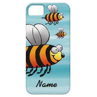 iPhone 5 Case, Cute Cartoon Bee, Name Template