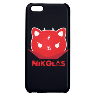 iPhone 5 Case - Devil Cat Nikolas, red in black