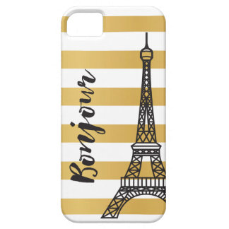 iPhone 5 Case - Eiffel Tower / Black and Gold