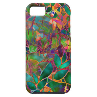 iPhone 5 Case Floral Abstract Stained Glass