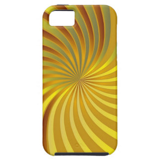iPhone 5 Case gold spiral vortex