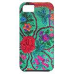iPhone 5 case green paisley print