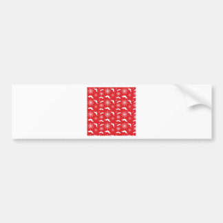 iPhone 5 Case - Holiday Mustache Print Car Bumper Sticker