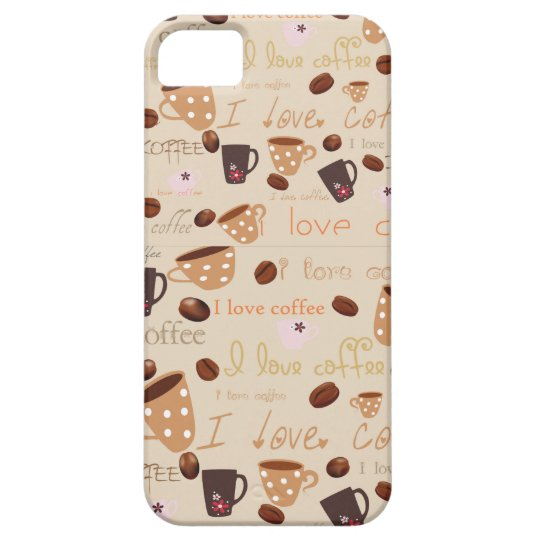 "Iphone 5 Case ""I love coffee"""
