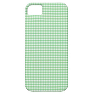 IPhone 5 Case in Green Gingham Checks