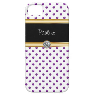 iPhone 5 Case Jeweled Monogram