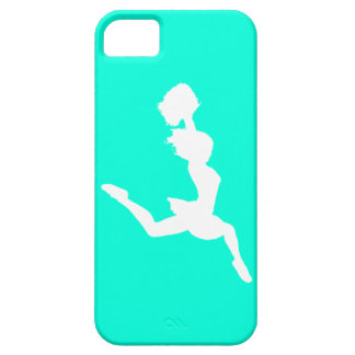 iPhone 5 Case-Mate Cheer Silhouette White/Turquois