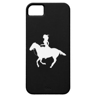 iPhone 5 Case-Mate Cowgirl 3 Silhouette White/Blk
