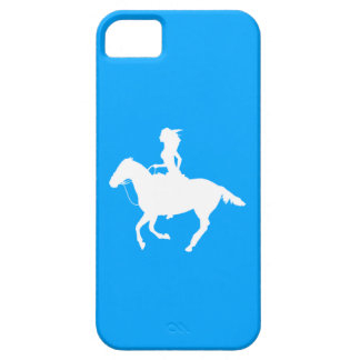 iPhone 5 Case-Mate Cowgirl 3 Silhouette White/Blue