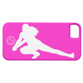 iPhone 5 Case-Mate Dig Silhouette White on Pink