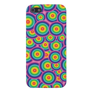 iPhone 5 case Psychedelic rainbow bubbles