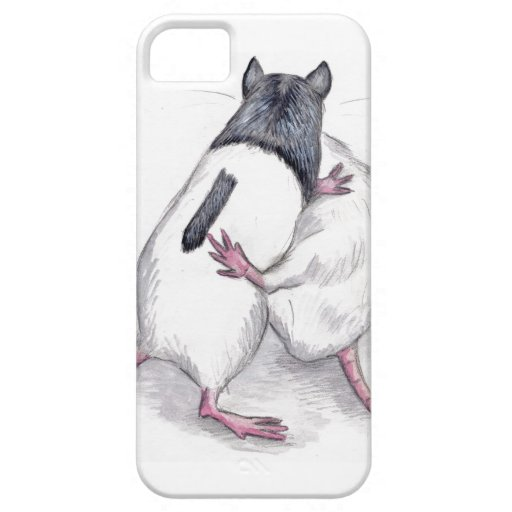iphone 5 case - rats playing