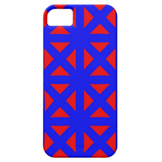 iphone 5 Case Red and Blue Graphic Design