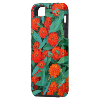 """iPhone 5 Case, """"Red and Green Floral"""" CaseMateVibe iPhone SE/5/5s Case"""