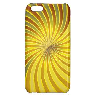 iPhone 5 Case Savvy gold and yellow spiral vortex