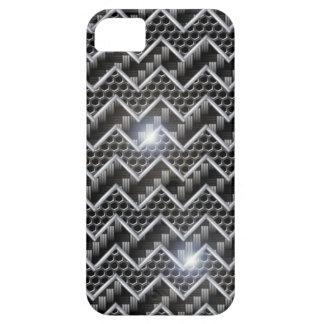 iPhone 5 case Template Carbon Chrome Chevron