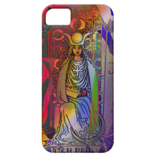 iPhone 5 Case The High Priestess Psychedelic Tarot