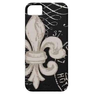 iPhone 5 case-Vintage Fleur de Lis iPhone SE/5/5s Case