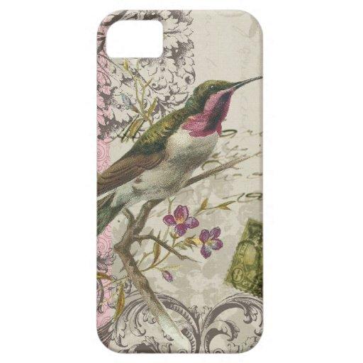 iPhone 5 case-Vintage Hummingbird