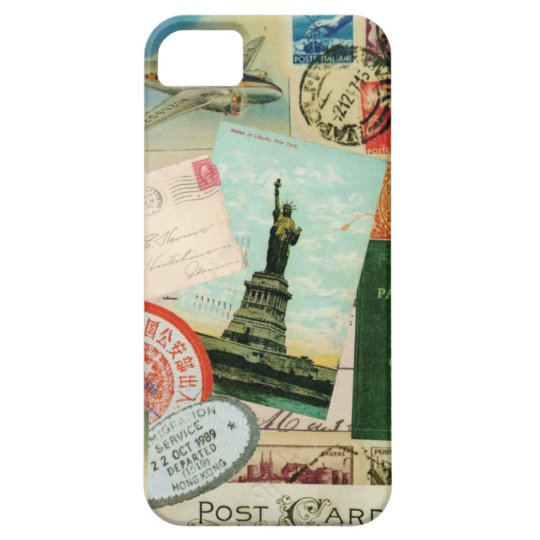 iPhone 5 case-Vintage Travel and Stamps iPhone SE/5/5s Case
