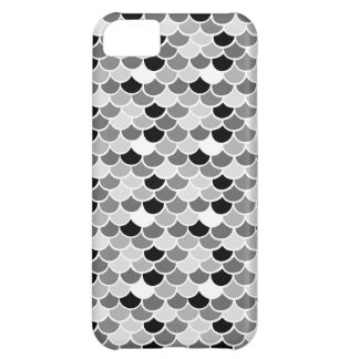 iPhone 5 case - White w/ black n gray fish scales