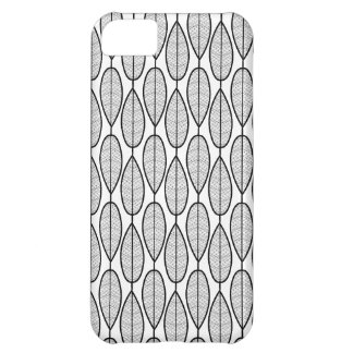 iPhone 5 case - White w/ black symmetric leaves