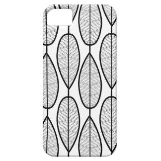 iPhone 5 case - White w/ symmetric black leaves