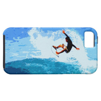 iPhone 5 Case with a Surfing Graphic Image
