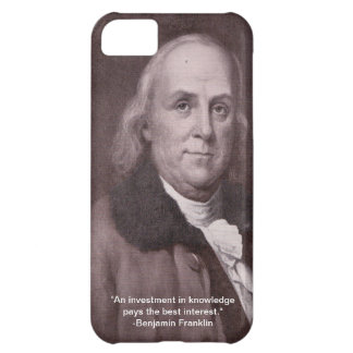 iPhone 5 case with Benjamin Franklin pic and quote
