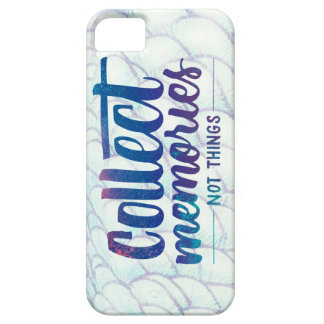 "iPhone 5 case with ""Collect Memories"" saying"