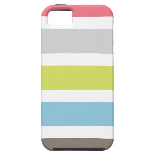 iPhone 5 case with colorful stripes