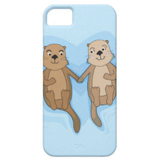 iPhone 5 Case with cute floating otters