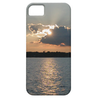 iPhone 5 case with photo of silver-lining sunset