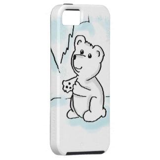 iPhone 5 Case with Polar Bear Cub Illustration