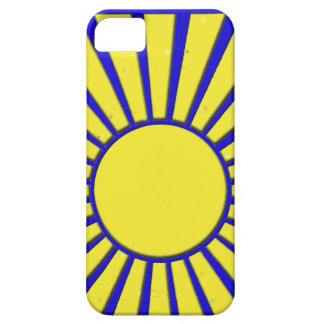 iphone 5 Case with Retro Sun Design