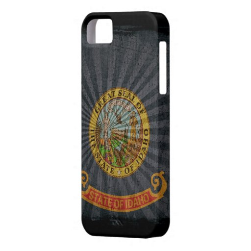 Iphone 5 Case with state flag of Idaho