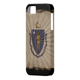 Iphone 5 Case with state flag of Massachusetts