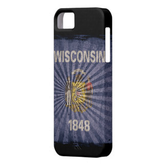 Iphone 5 Case with state flag of Wisconsin