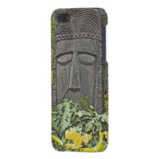 iPHONE 5 CASE, WOODEN FACE CARVING