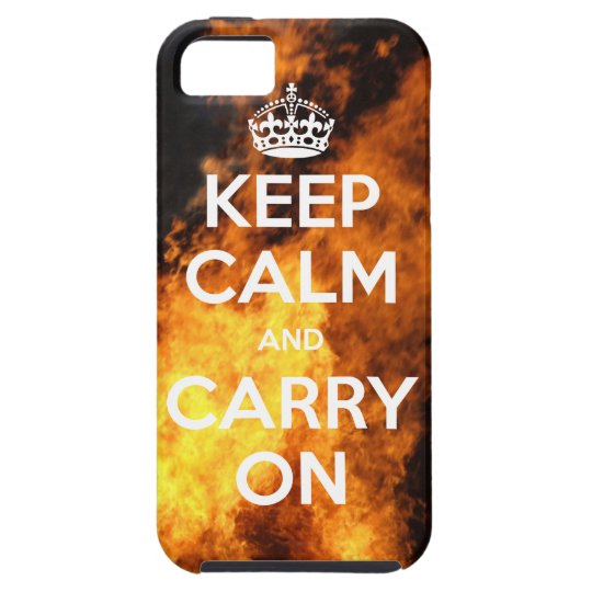 iPhone 5 CaseMate™ Keep Calm On Fire iPhone SE/5/5s Case