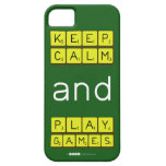 KEEP CALM and PLAY GAMES  iPhone 5 Cases