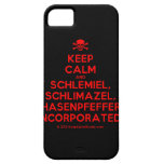 [Skull crossed bones] keep calm and schlemiel, schlimazel, hasenpfeffer incorporated!  iPhone 5 Cases