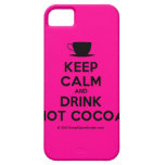 [Cup] keep calm and drink hot cocoa  iPhone 5 Cases