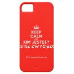 [Crown] keep calm and kim jesteś? jesteś zwycięzcą  iPhone 5 Cases