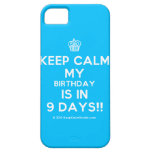 [Cupcake] keep calm my birthday is in 9 days!!  iPhone 5 Cases