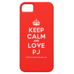 [Crown] keep calm and love pj  iPhone 5 Cases