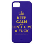 [Dancing crown] keep calm and don't give a fuck  iPhone 5 Cases