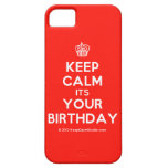 [Cupcake] keep calm its your birthday  iPhone 5 Cases