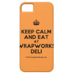 [Crown] keep calm and eat at wrapworks deli  iPhone 5 Cases